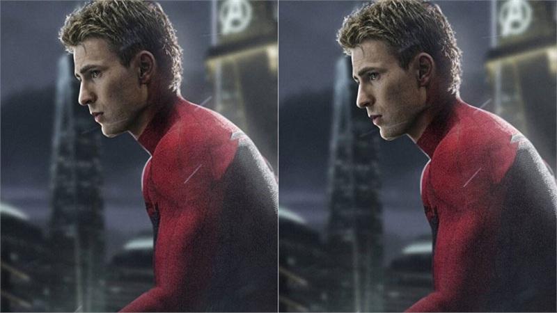 Chris Evans nhìn cực ngầu khi làm Spider Man thay vì Captain America