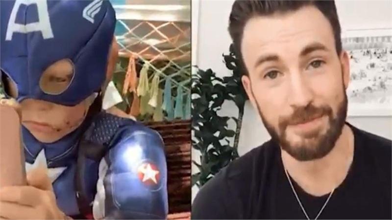 Cậu nhóc liều mình cứu em gái được Chris Evans tặng hẳn chiếc khiên thật của Captain America