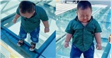 Clip 18 triệu lượt view gây sốt MXH TikTok: Màn 'giải cứu' bé trai đang đi đường bỗng sợ hãi đứng im khi phát hiện ra lớp kính trong suốt dưới chân