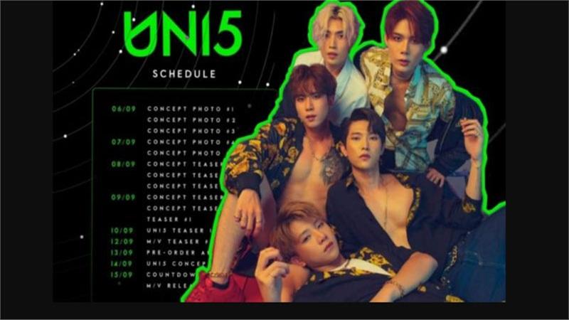 Uni5 công bố tên bài hát comeback cùng kế hoạch phát hành dự án chuyên nghiệp như boygroup Kpop