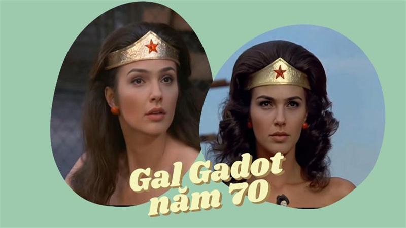 Gal Gadot sẽ như thế nào khi hóa thân thành Wonder Woman những năm 1970?