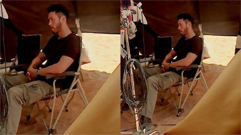 Xót xa hình ảnh Hyun Bin mệt lả người, ngồi một mình giữa trời nắng gắt ở Trung Đông để quay phim mới