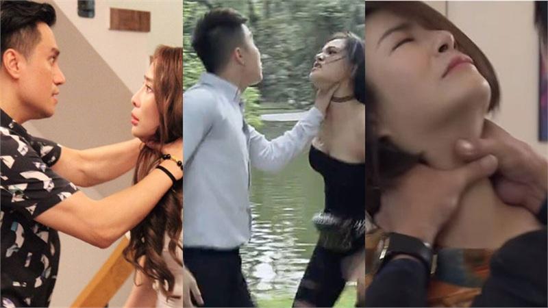 Muôn kiểu bóp cổ trên phim Việt: Ai cũng 'rén', Quỳnh Nga còn tưởng mình sắp chết