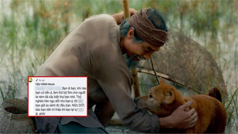 Xôn xao tin fanpage phim 'Cậu Vàng' mắng lại dân mạng là 'thứ nghèo hèn ngu dốt, không bao giờ so sánh được'