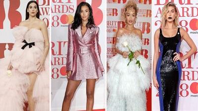 10 trang phục cuốn hút nhất trên thảm đỏ BRIT Awards 2018