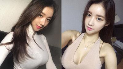 Gái xinh Hàn Quốc gây chú ý nhờ vòng 1 'siêu khủng' và vòng 2 'con kiến'