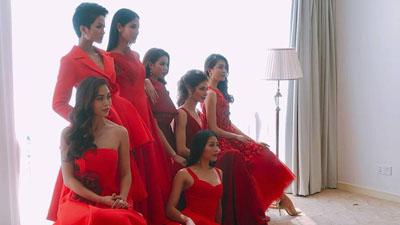 Hậu trường chụp ảnh sau đăng quang của Top 3 Hoa hậu Hoàn vũ Việt Nam 2017