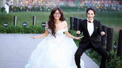 Cặp đôi chụp ảnh cưới hoán đổi, anh chồng gây chú ý vì xinh hơn cả hotgirl