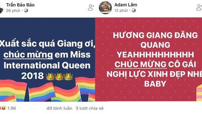 Nghệ sĩ cộng đồng LGBT Việt Nam đồng loạt gửi lời chúc mừng Hương Giang