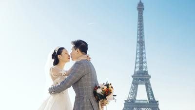 Yêu xa cả nghìn km, cặp đôi vẫn hẹn cùng nhau lặn lội tới Paris chụp ảnh cưới