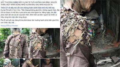 Bà cụ mặc quần áo rách vá bằng rơm rạ có thật sự khốn khổ, đáng thương như mạng xã hội chia sẻ?