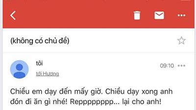 Khi bạn gái giận chặn hết tất cả mạng xã hội, chàng trai đành nghĩ kế gửi mail xin lỗi