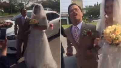 Cổ tích là có thật: Chú rể 47 tuổi tật nguyền hạnh phúc bên cô dâu ít hơn 20 tuổi trong đám cưới