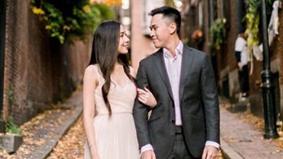 Lộ ảnh hotgirl Mie Nguyễn diện váy trắng xinh như công chúa bên bạn trai trong ảnh đính hôn