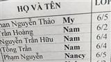 Khi bố mẹ quá thần tượng nữ thần nhan sắc Nancy - Bảng danh sách lớp xuất hiện cái tên cực bất ngờ