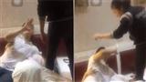 Xôn xao clip vợ bắt tại trận chồng đang 'bay lắc' cùng 2 gái xinh trong phòng khách sạn