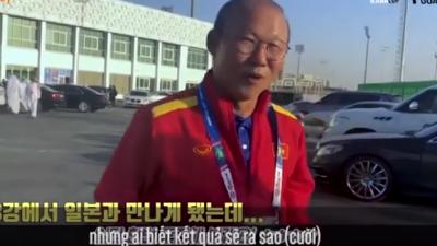 Thầy Park hớn hở trả lời phỏng vấn sau khi 'thăm dò' Nhật Bản, CĐV Việt tin rằng 'bí kíp trong tay, ngại gì vận may'