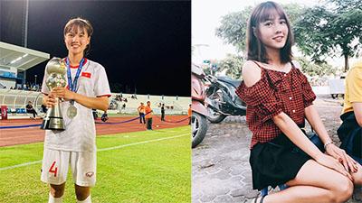 Nhan sắc đời thường của hoa khôi đội tuyển bóng đá nữ Việt Nam với chiều cao ấn tượng 1m72