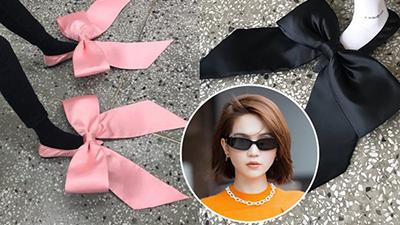 Dân mạng triệu hồi 'thánh nữ hàng hiệu' Ngọc Trinh mua đôi giày nơ to xòe, sau khi nhìn thấy mức giá 'khủng'