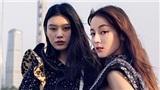 Địch Lệ Nhiệt Ba sánh vai cùng thiên thần nội y Ming Xi trong chiến dịch quảng cáo của nhà mốt Louis Vuitton