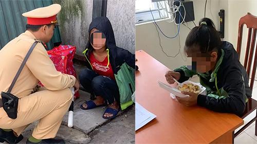Bé gái 13 tuổi từ Thanh Hóa ra Hà Nội tìm việc, nằm lả ở bến xe được CSGT giúp đỡ