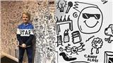Bị phê bình vì vẽ nguệch ngoạc trong lớp, cậu bé 9 tuổi được mời vẽ trang trí cho nhà hàng