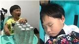Sau khi quậy tưng bừng, bé Sa ngủ khì ngon lành trong giờ ghi hình TV show