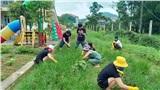 Bên trong khu cách ly ở trường mầm non Hà Tĩnh: Mọi người rủ nhau dọn dẹp, trồng rau, làm vườn