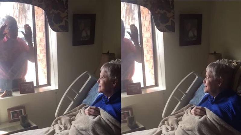 Không được vào viện dưỡng lão do dịch Covid-19, cụ ông 80 tuổi hát qua khung cửa sổ để vợ không quên mình