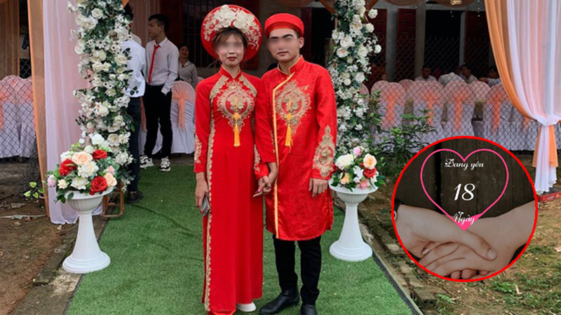 Xôn xao cặp đôi yêu nhau 18 ngày đã đăng ký kết hôn, nhà gái 'lật kèo' hủy đám cưới đúng giờ G