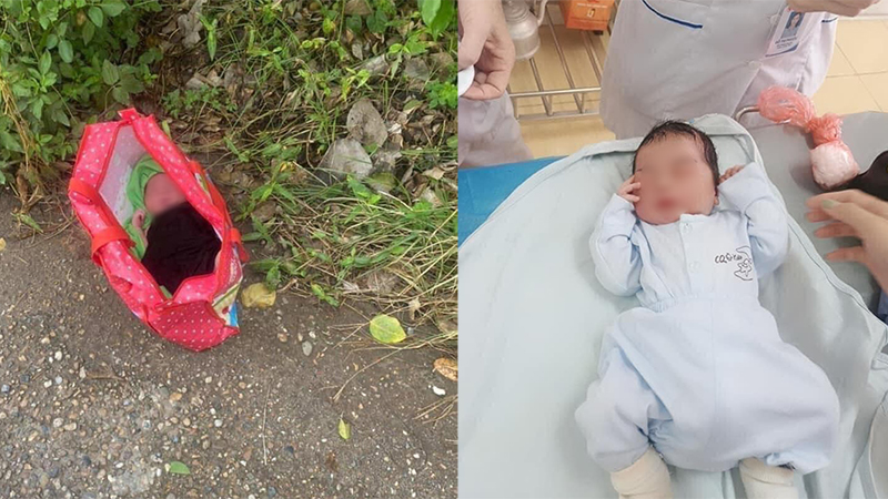 Bé trai sơ sinh còn nguyên dây rốn bị bỏ rơi cạnh trạm y tế: Không quần áo, không tên tuổi hay lời nhắn