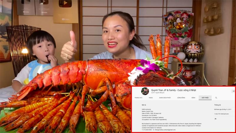 Ăn mừng 1 tỷ view trên Youtube, Quỳnh Trần JP làm hẳn màn mâm tôm hùm to khổng lồ đến choáng ngợp