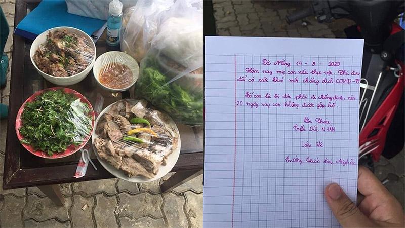 Lá thư xúc động của cháu bé lớp 3 gửi các chiến sĩ chống dịch Covid-19: 'Mẹ cháu làm thịt vịt, các chú ăn để có sức khỏe'
