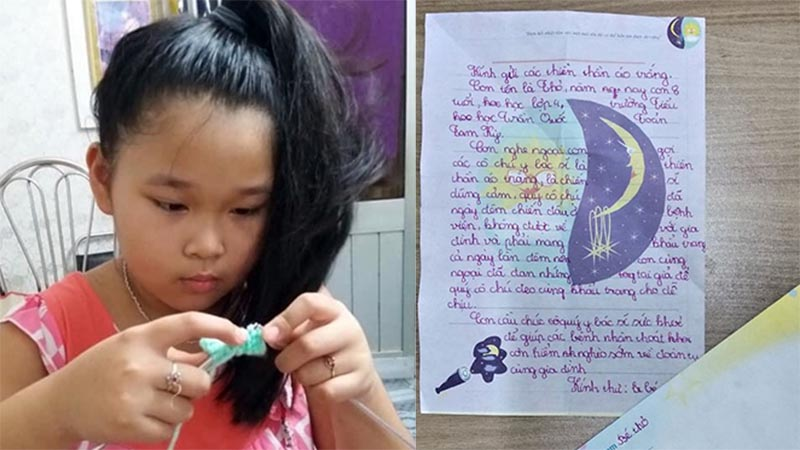 Xúc động lá thư của cô bé 8 tuổi gửi lời động viên những 'thiên thần áo trắng' trong cuộc chiến chống dịch Covid-19