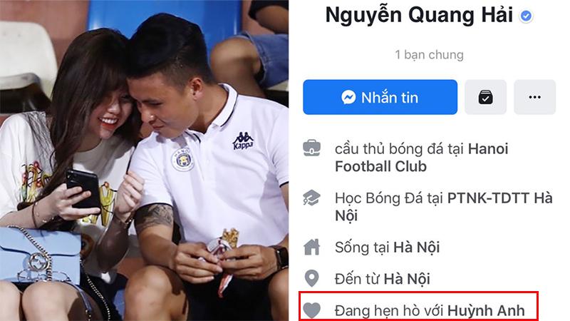 Quang Hải lại đặt chế độ hẹn hò với Huỳnh Anh trên trang cá nhân, chấm dứt tin đồn rạn nứt