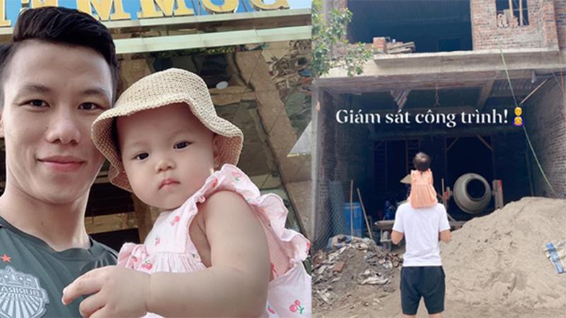Quế Ngọc Hải đưa con gái cưng đi 'khảo sát công trình', 'than' hết tiền vì xây nhà mới