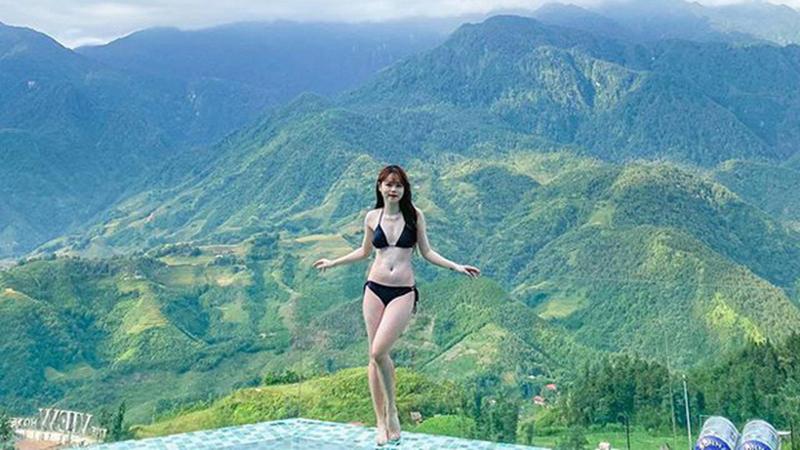 Huỳnh Anh diện bikini nóng bỏng, khoe trọn 3 vòng thon gọn giữa đất trời Sa Pa