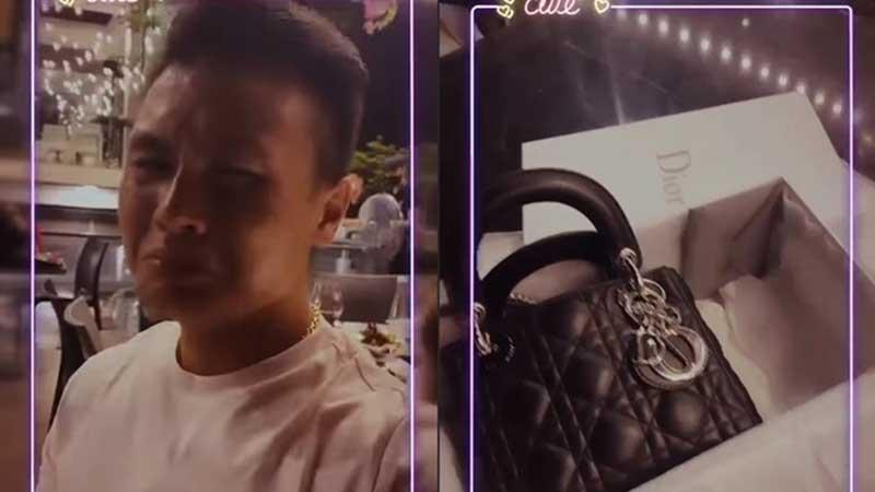 Clip: Tặng túi hàng hiệu hơn 80 triệu đồng cho Huỳnh Anh, Quang Hải mếu máo, 'khóc hết một dòng sông'