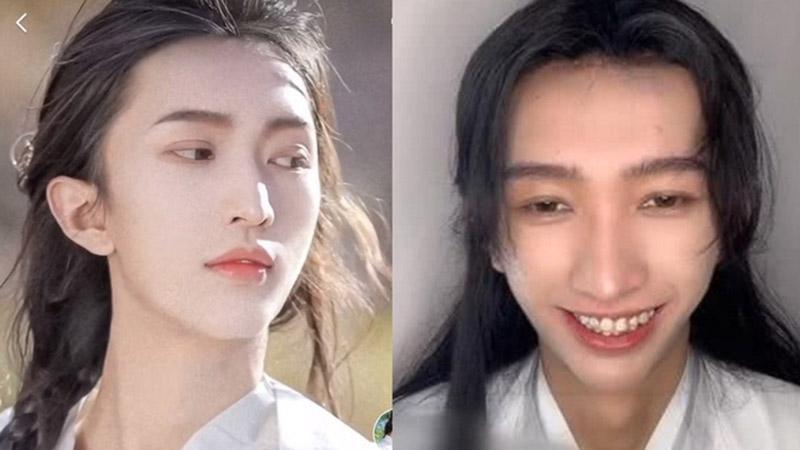 Lỡ tay tắt nhầm filter, mỹ nam cổ trang Trung Quốc sụp đổ hình tượng hoàn mỹ, fan thất vọng hoàn toàn