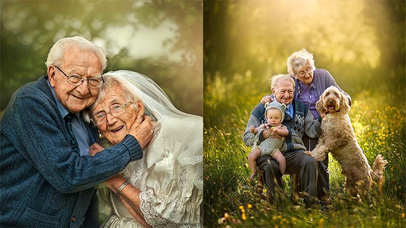Bộ ảnh cưới xúc động của cặp vợ chồng hơn 90 tuổi: Tình yêu vĩnh cửu là đây chứ đâu!