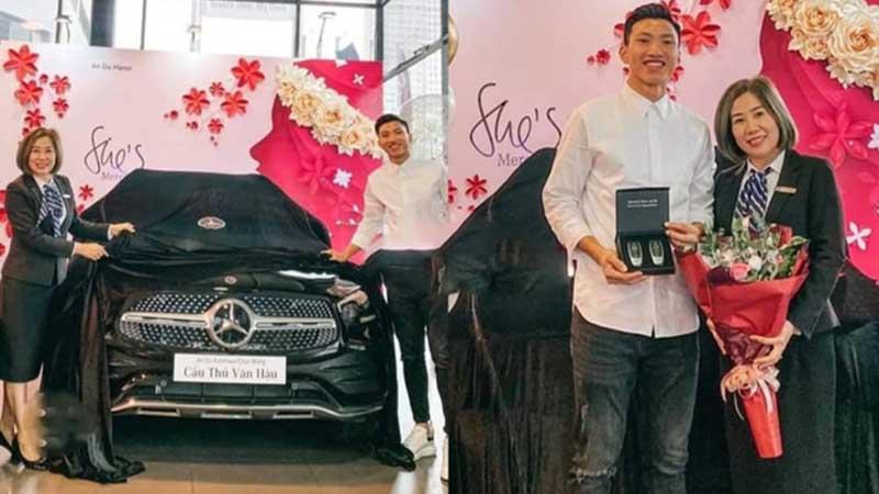 Sau Quang Hải, đến lượt Văn Hậu tậu xe sang hơn 2 tỷ đồng cho bằng bạn bằng bè