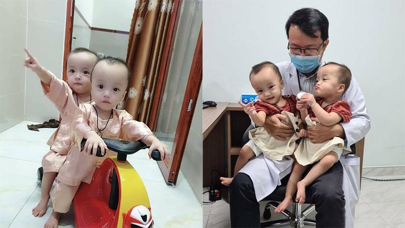 Sau 15 ngày xuất viện, Song Nhi trở lại tái khám, 'đua xe' vui vẻ và mừng hết cỡ khi gặp lại các y bác sĩ