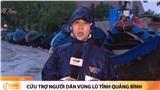 Đoạn clip dẫn hiện trường của phóng viên VTV tại tâm lũ Quảng Bình gây tranh cãi dữ dội