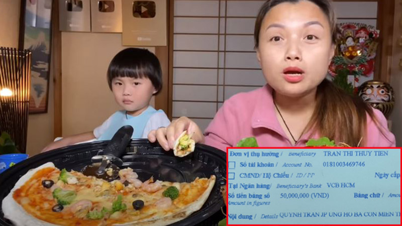 Từ Nhật Bản, Quỳnh Trần JP ủng hộ 100 triệu đồng cứu trợ miền Trung lũ lụt