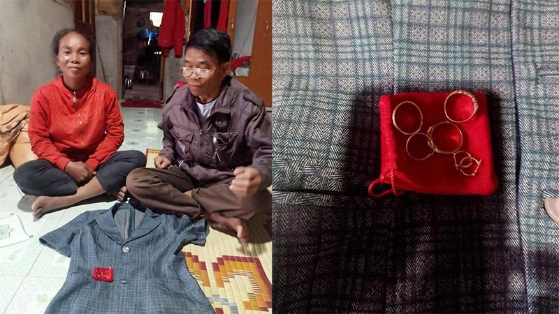 Phát hiện vòng vàng trong túi áo cứu trợ, đôi vợ chồng vùng lũ Quảng Trị lập tức tìm cách trả lại