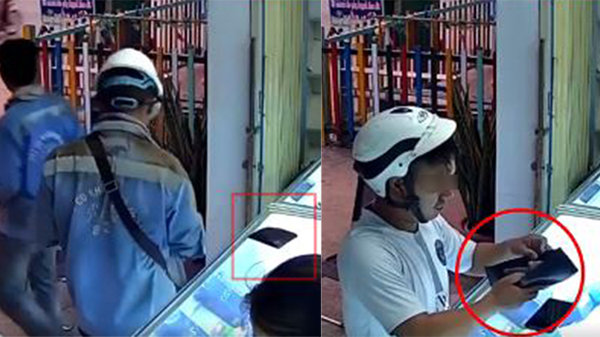 Thấy ví người khác bỏ quên ở tiệm sửa điện thoại, người đàn ông nhanh tay 'thó' mất còn ngang nhiên mở ra xem có bao nhiêu tiền