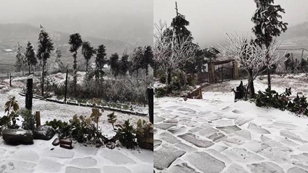 Clip: Tuyết đang rơi trắng xóa ở Y Tý (Lào Cai), khung cảnh đẹp chẳng khác gì trời Âu