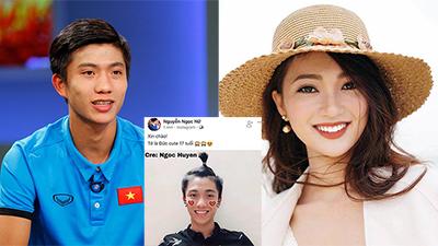 Khẳng định chỉ là bạn thân mà top 10 HHVN Ngọc Nữ lại dùng Facebook của U23 Văn Đức