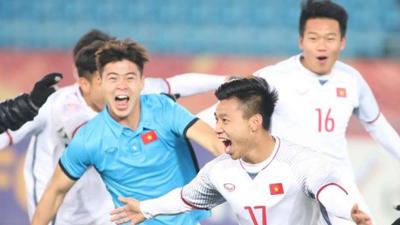 Những khoảnh khắc vui nhộn của các cầu thủ U23 Việt Nam