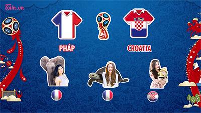 Sở thú WC 2018: Những dự đoán về trận chung kết giữa Pháp và Croatia, đội tuyển nào sẽ là tân vương của bóng đá thế giới?